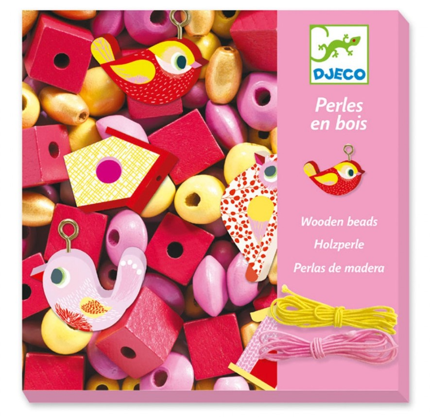 Djeco, Jewellery Workshop Wooden Beads, 4+ years