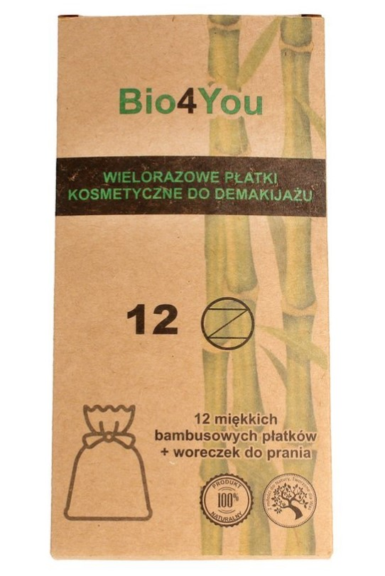 Bio4You, Bamboo Cotton Make-up Remover Pads & Wash Bag