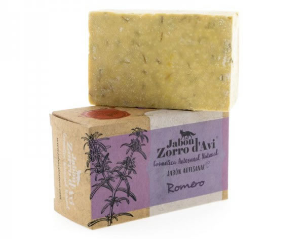 Jabon Zorro d'Avi, Rosemary Natural Shampoo and Soap Bar, 120g