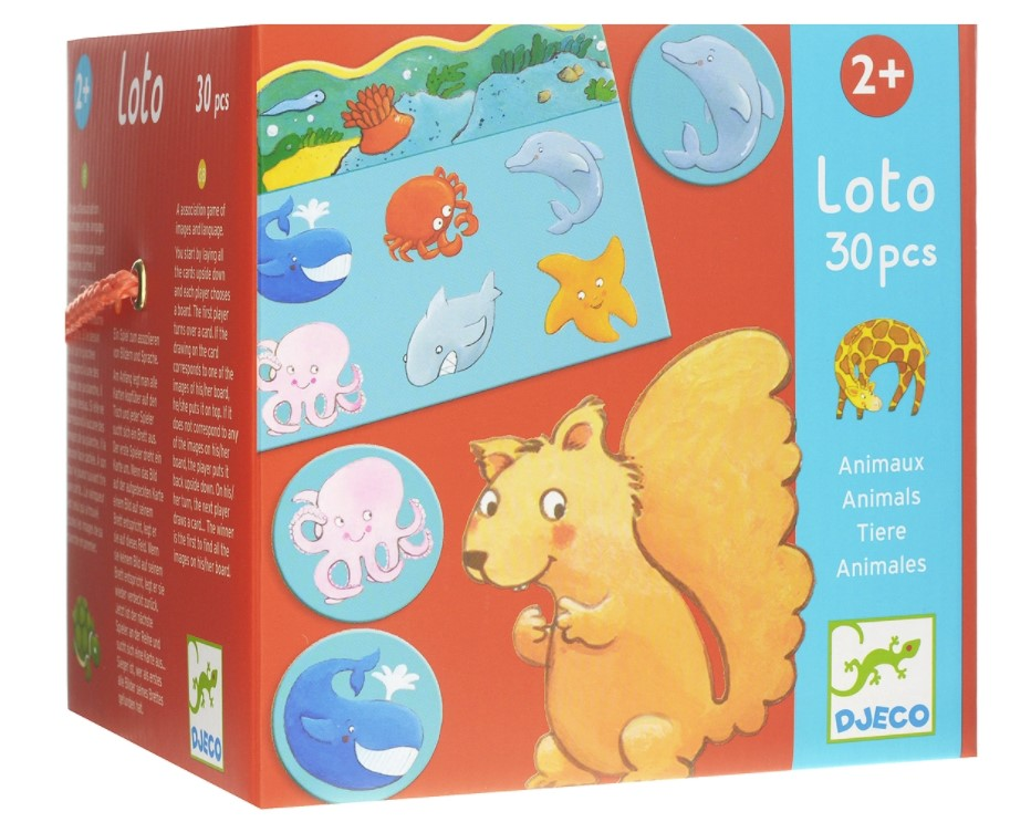 Djeco, Educational Games Lotto Animals, 2+ years
