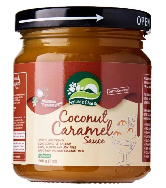 Nature's Charm, Coconut Caramel Sauce, 200g
