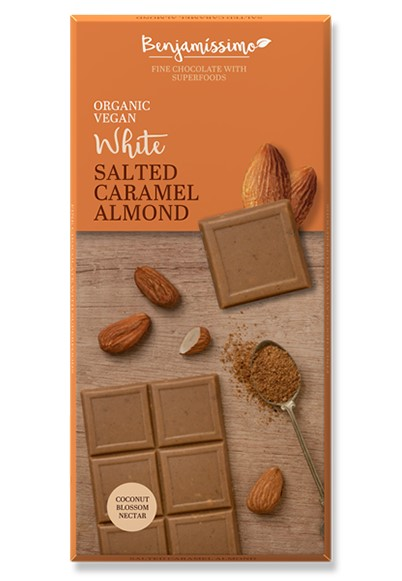 Benjamin, White Chocolate Salted Сaramel and Almonds, 70g