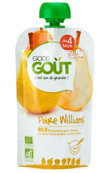 Good Gout, Williams Pear Fruit Puree 4m+, 120g