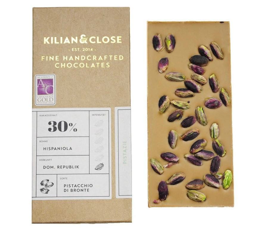 Kilian & Close, Pistachia Di Bronte Chocolate 30%, 80g