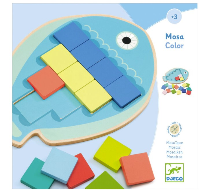 Djeco, Wooden Games Mosa Color, 3+ years