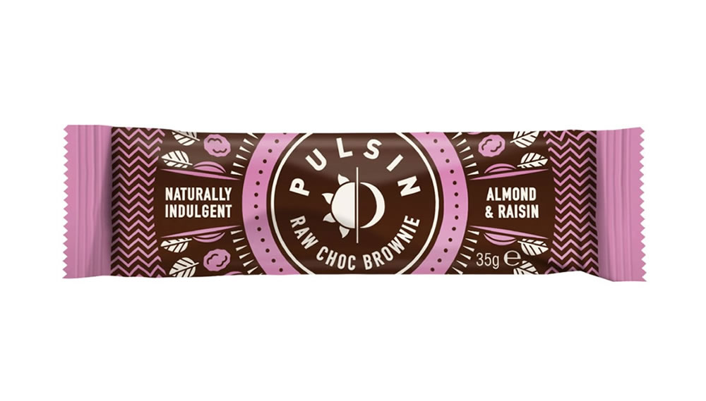 Pulsin, Almond & Raisin Raw Choc Brownie, 35g