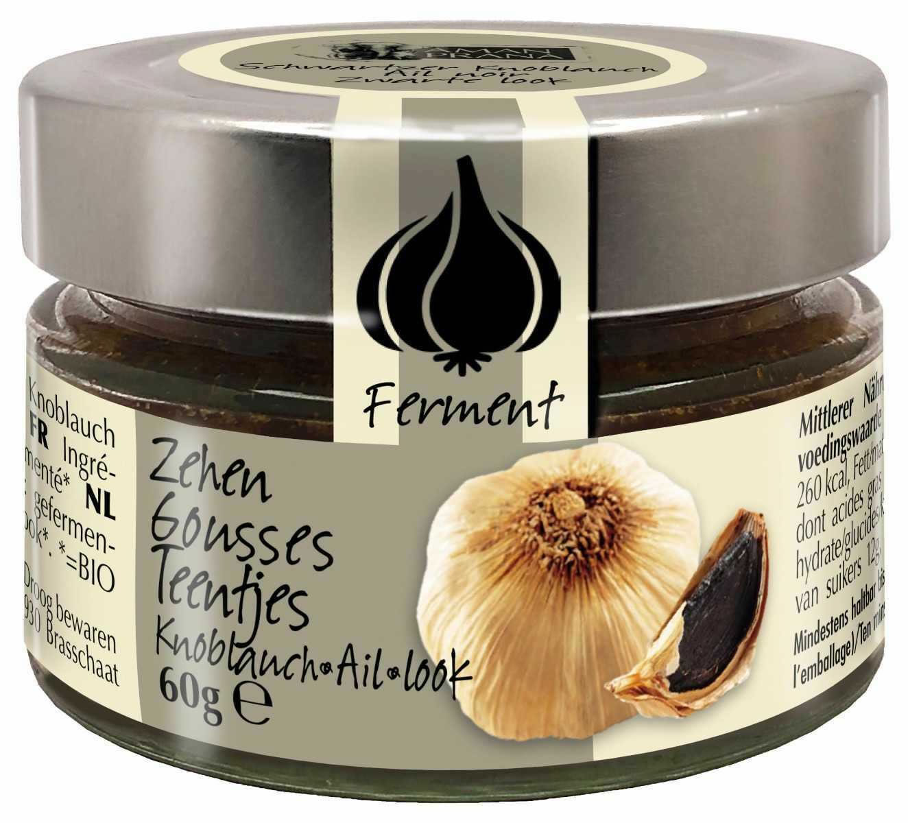 Black Garlic Fermented Cloves, 60g