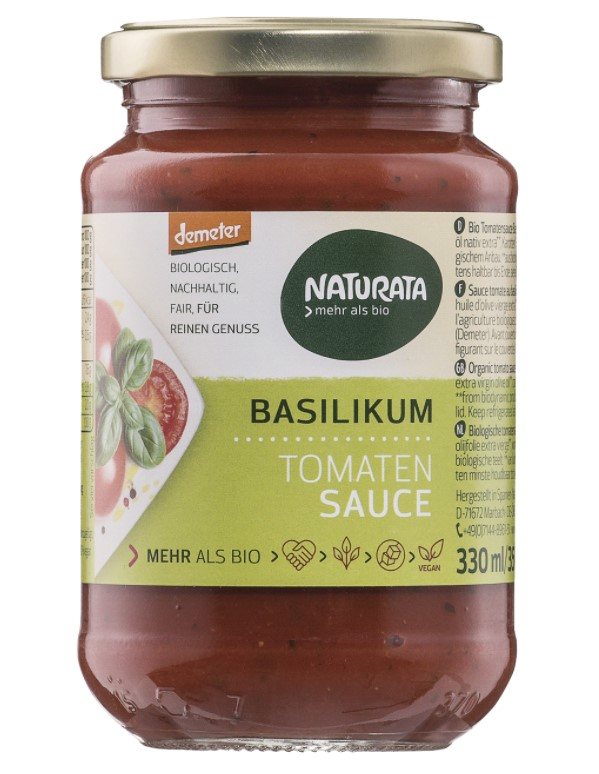 Naturata, Tomato Sauce with Basil, 330g