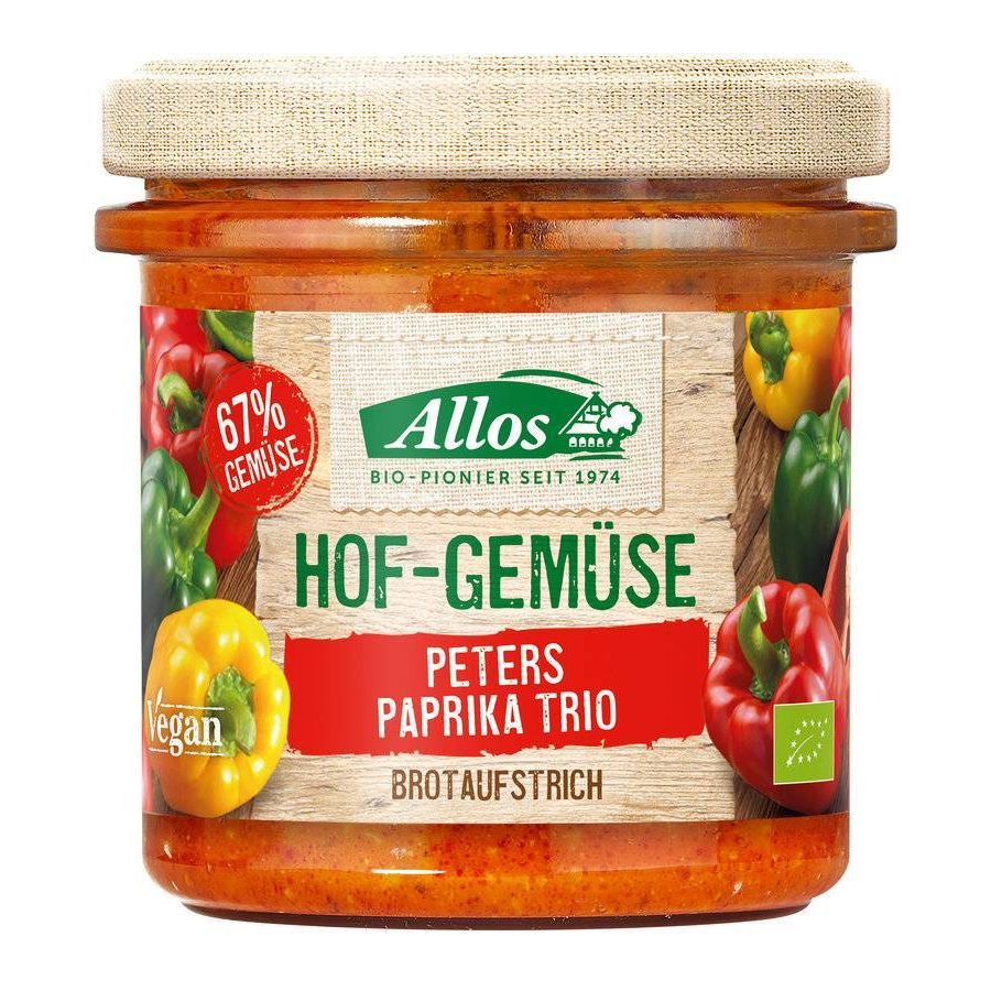 Allos, Farm vegetables, Paprika Trio Spread, 135g
