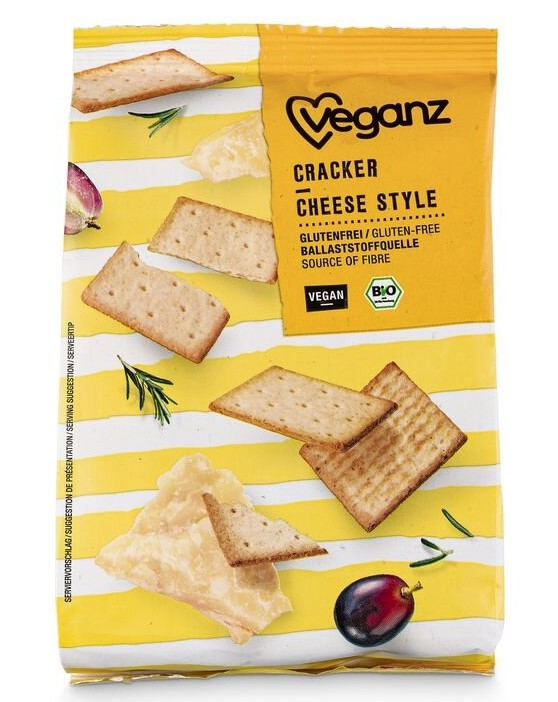 Veganz, Cracker Cheese Style, 100g