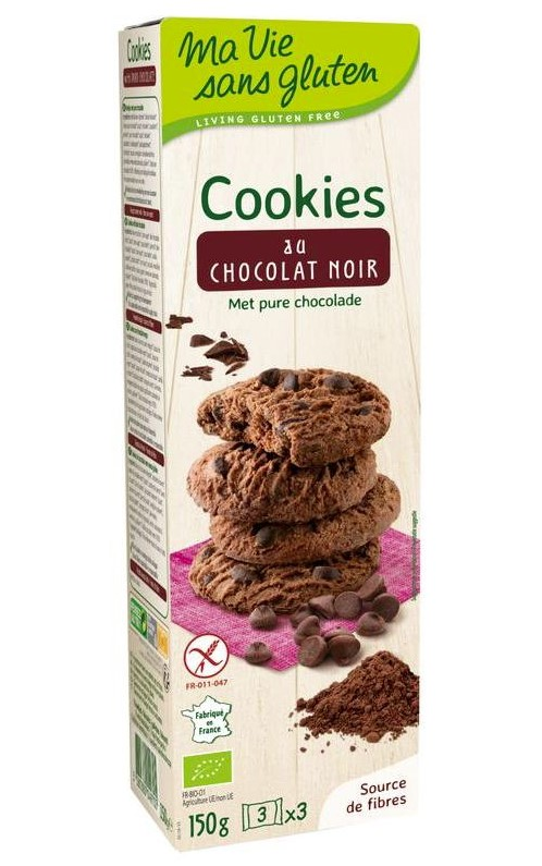 Ekibio, Dark Chocolate Cookies, 150g