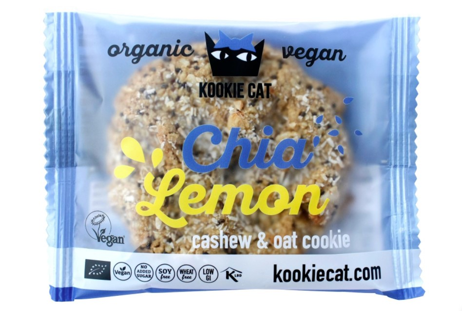 Kookie Cat, Cashew Oat Cookie Chia & Lemon, 50g