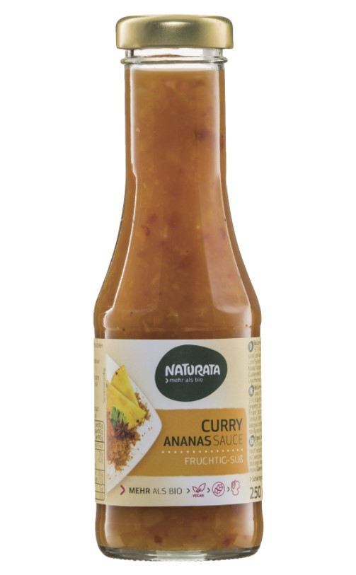 Naturata, Sauce Curry with Pineapple, 250ml