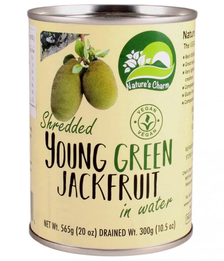 Nature's Charm, Shredded Young Green Jackfruit in Water, 565g