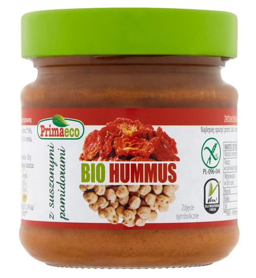 Primaeco, Hummus with Dried Tomatoes, 160g