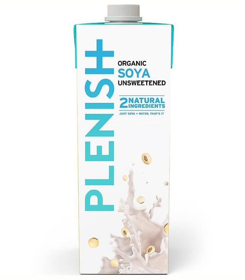 Plenish, Soya Milk Unsweetened, 1l