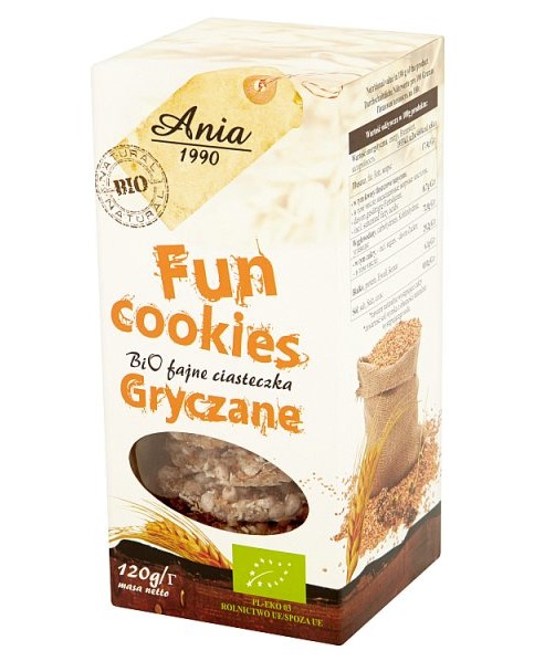 Bio Ania, Fun Cookies Buckwheat, 120g