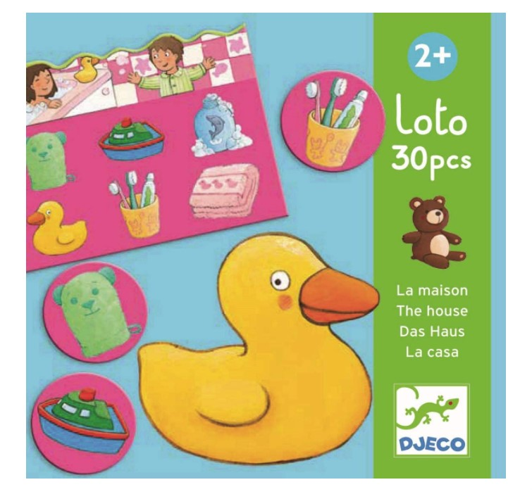 Djeco, Educational Games Lotto Of the house, 2+ years