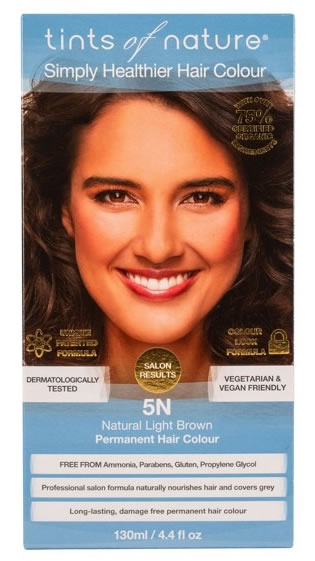 Tints of Nature, 5N Natural Light Brown Permanent Hair Colour