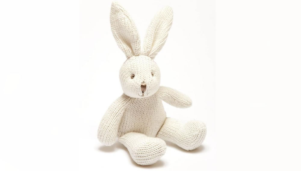 Best Years, Knitted Organic White Bunny, 0+