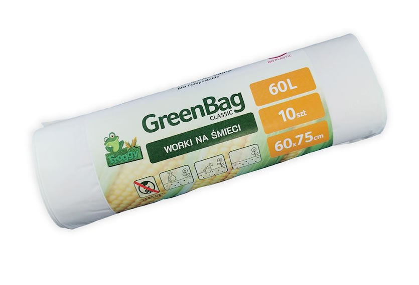 Compostable Waste Bags 60L, 10pcs