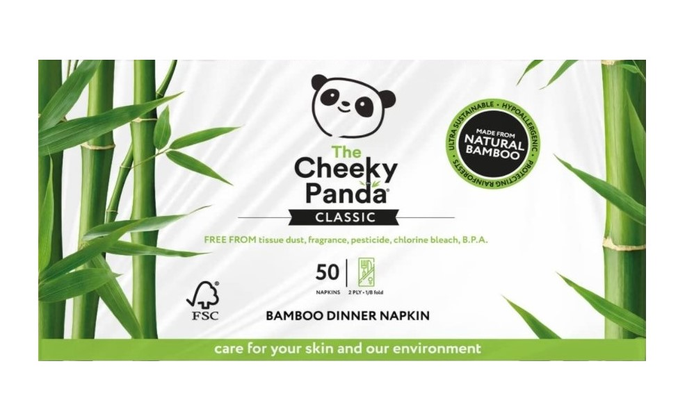 Cheeky Panda, Bamboo Dinner Napkin, 50pcs