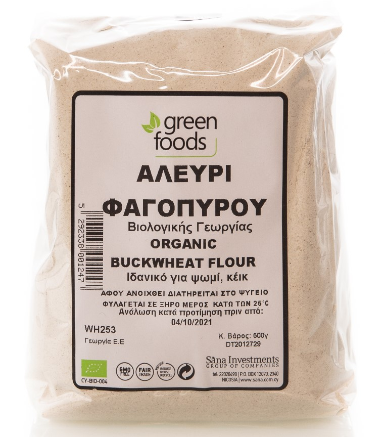 Green Foods, Buckwheat Flour, 500g