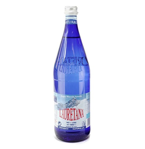 Lauretana, Natural Mineral Water Glass Bottle, 1l