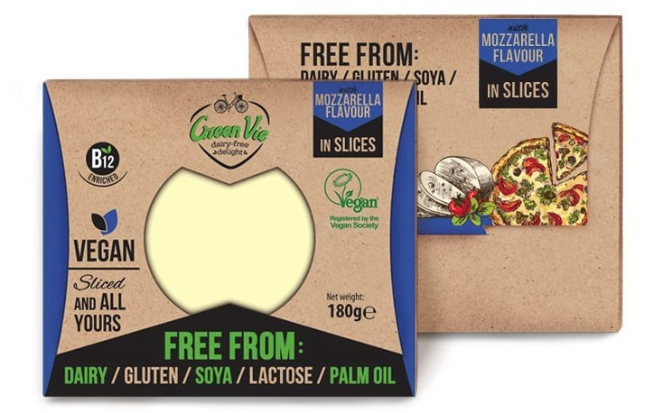 Green Vie, Mozzarella Flavour Slices, 180g