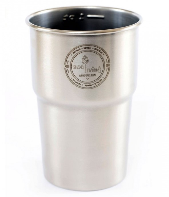 EcoLiving, British Stainless Steel Cup, pack of 4