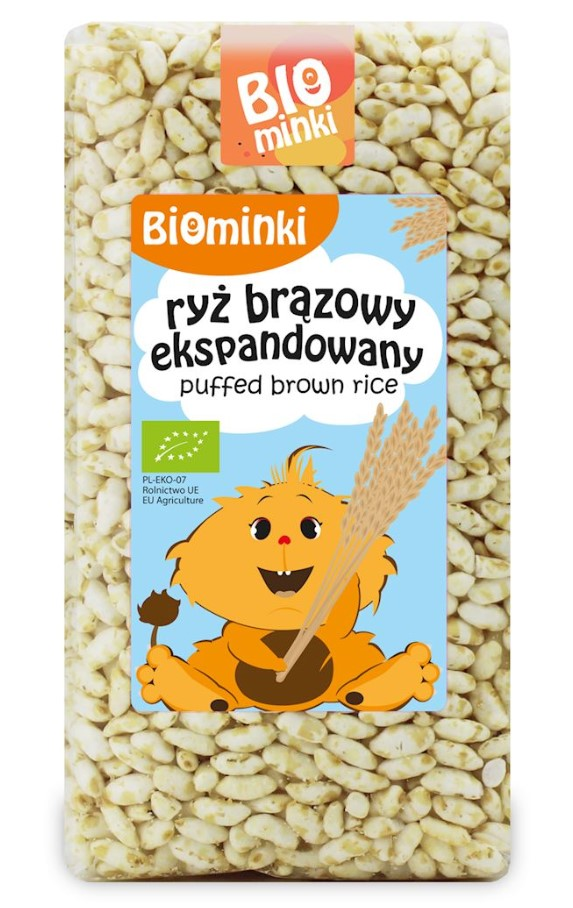 Biominki, Puffed Brown Rice, 75g