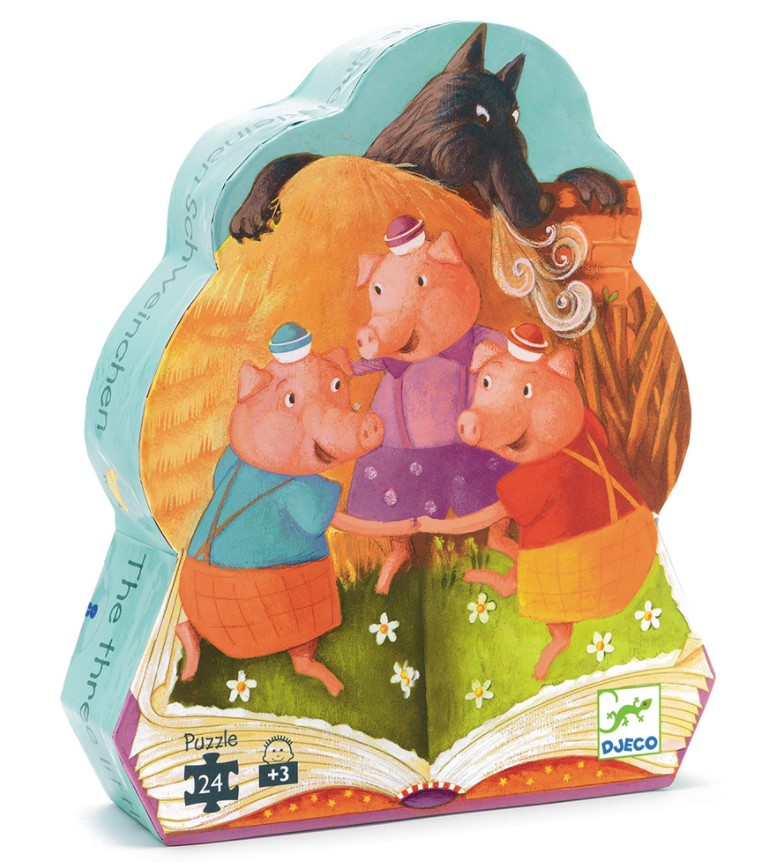 Djeco, Silouhette Puzzles Tales The 3 Little Pigs, 3+ years