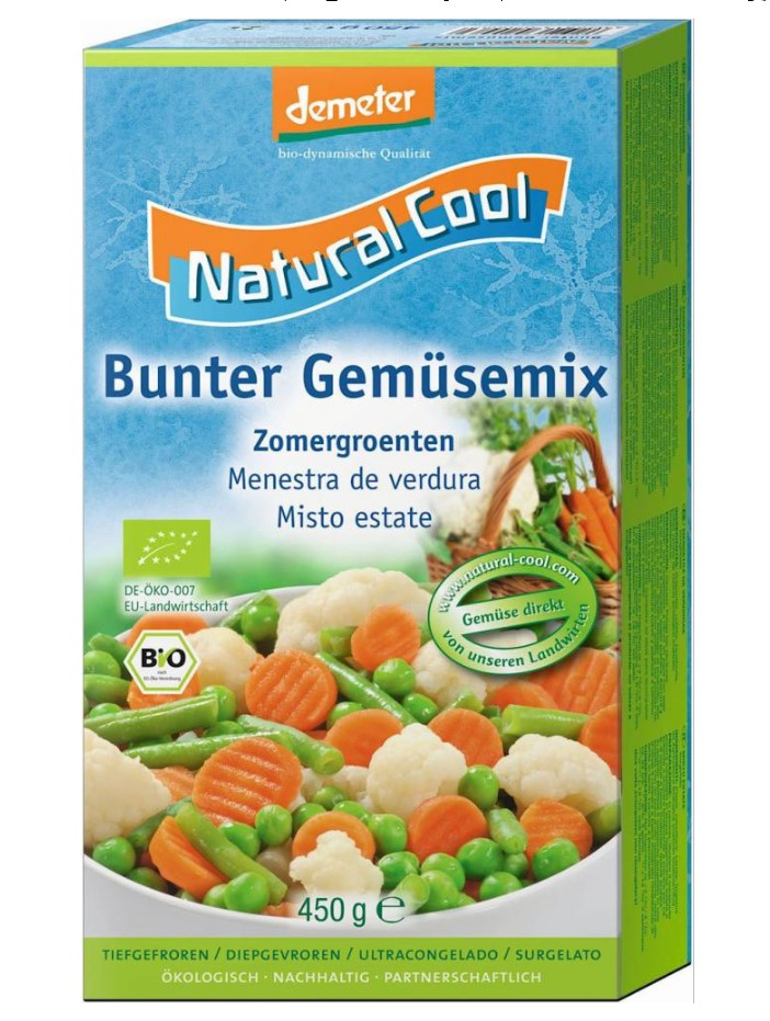 Natural Cool, Mixed Vegetables, 450g