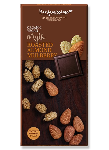Benjamin, Chocolate with Roasted Almond & Mulberry, 70g
