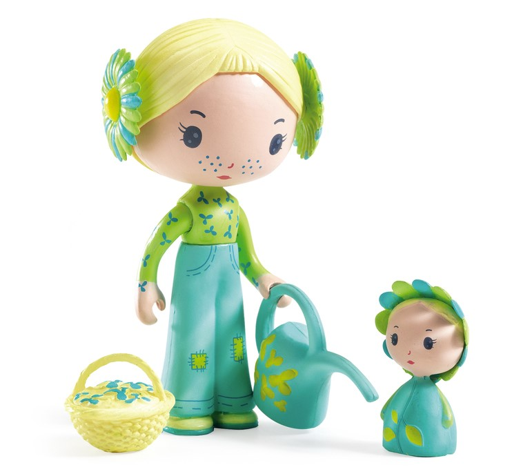 Djeco, Flore & Bloom Tinyly Doll Figures, 4+ years