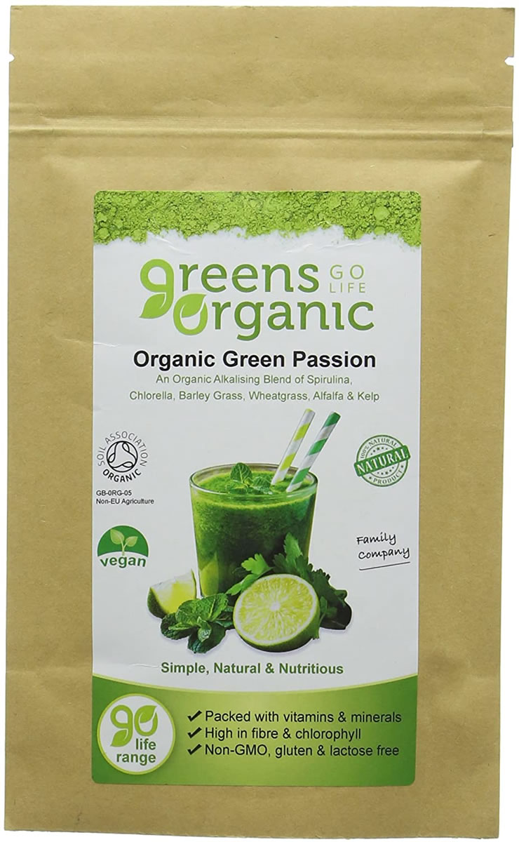 Golden Greens, Green Passion Powder, 90g
