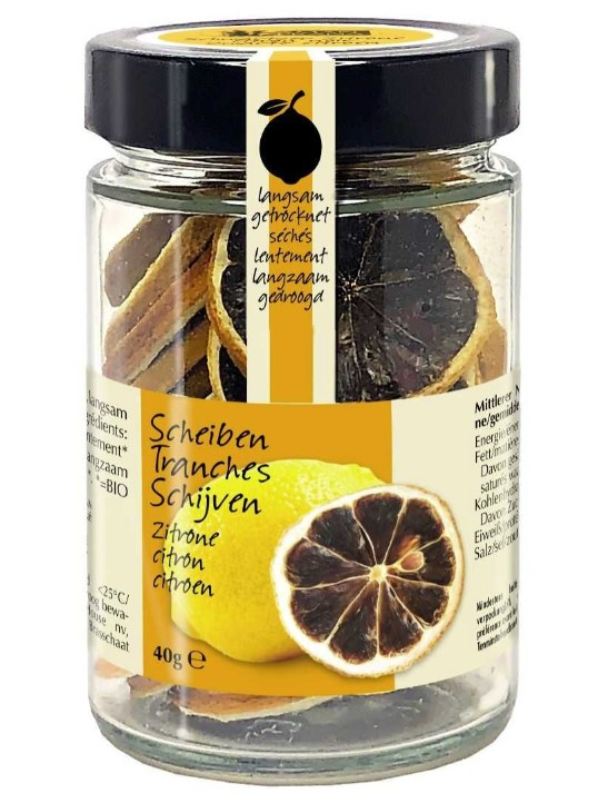 Dried black lemon slices, 40g