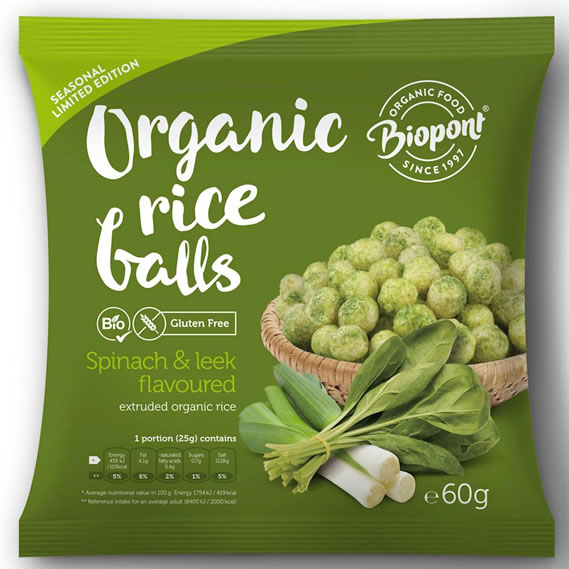 Biopont, Rice Crups with Spinach & Leek, 60g