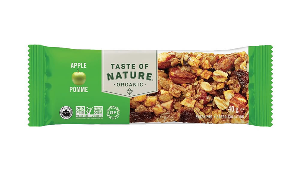 Taste Of Natur, Apple Snack Bar, 40g