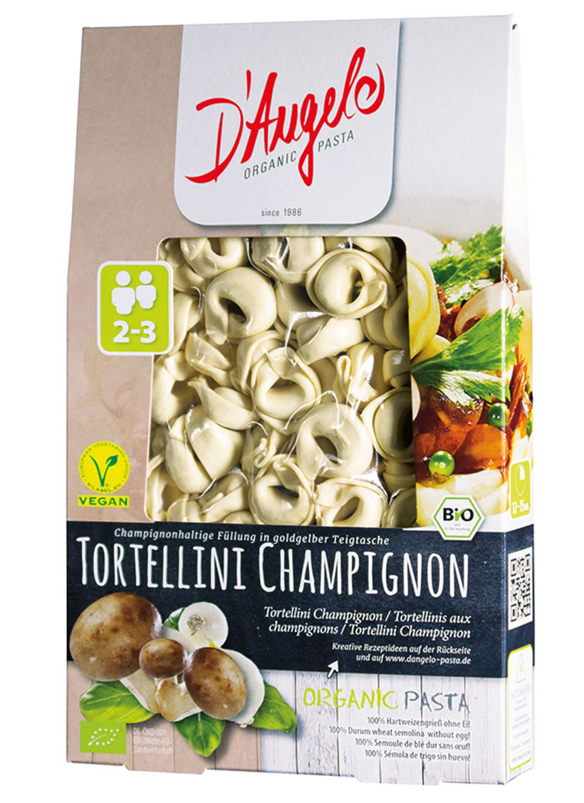 D'Angelo, Tortellini with Button Mushrooms, 250g