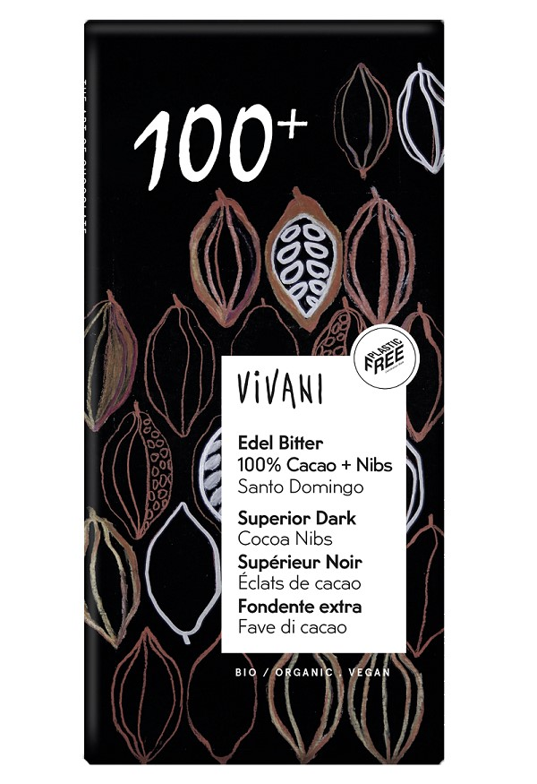 Superior Dark 100+ with Cocoa Nibs, 80g