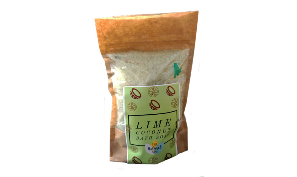 The Natural Spa, Lime and Coconut Bath Soak Compostable Pouch, 225g