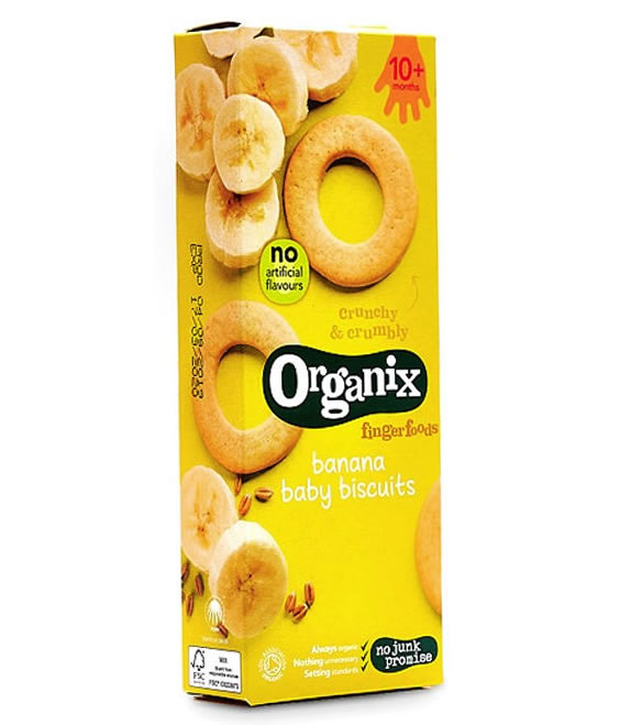 Organix, Banana Baby Biscuits Fingerfoods 10m+, 54g