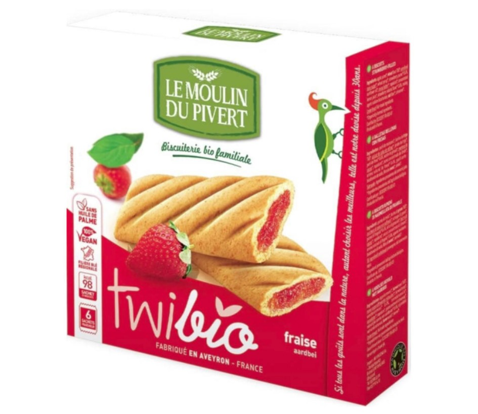 Le Moulin Du Pivert, Twibio with Strawberry Filling, 150g