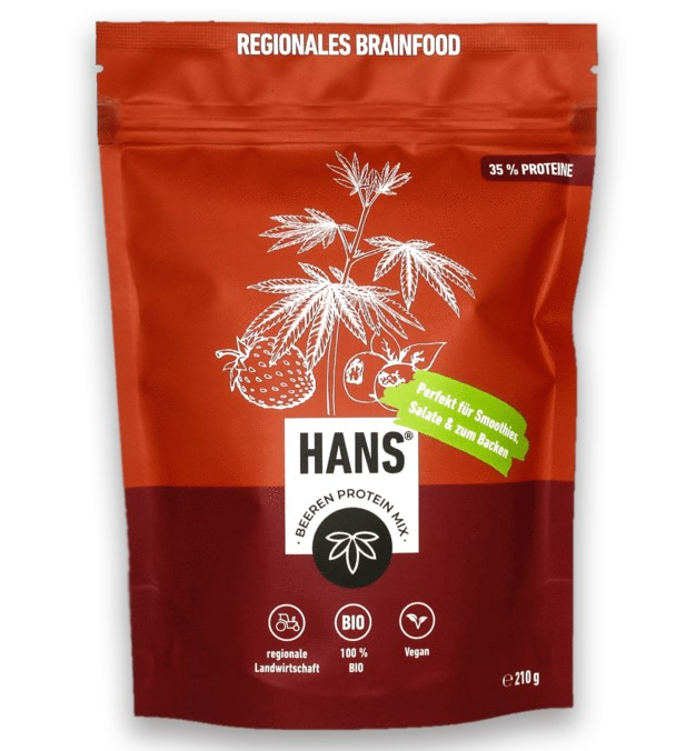 Hans Brainfood, Redcurrant Protein Mix, 210g