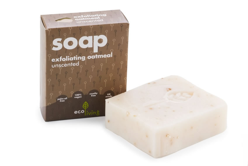 Unscented Exfoliating Oatmeal Handmade Soap, 100g