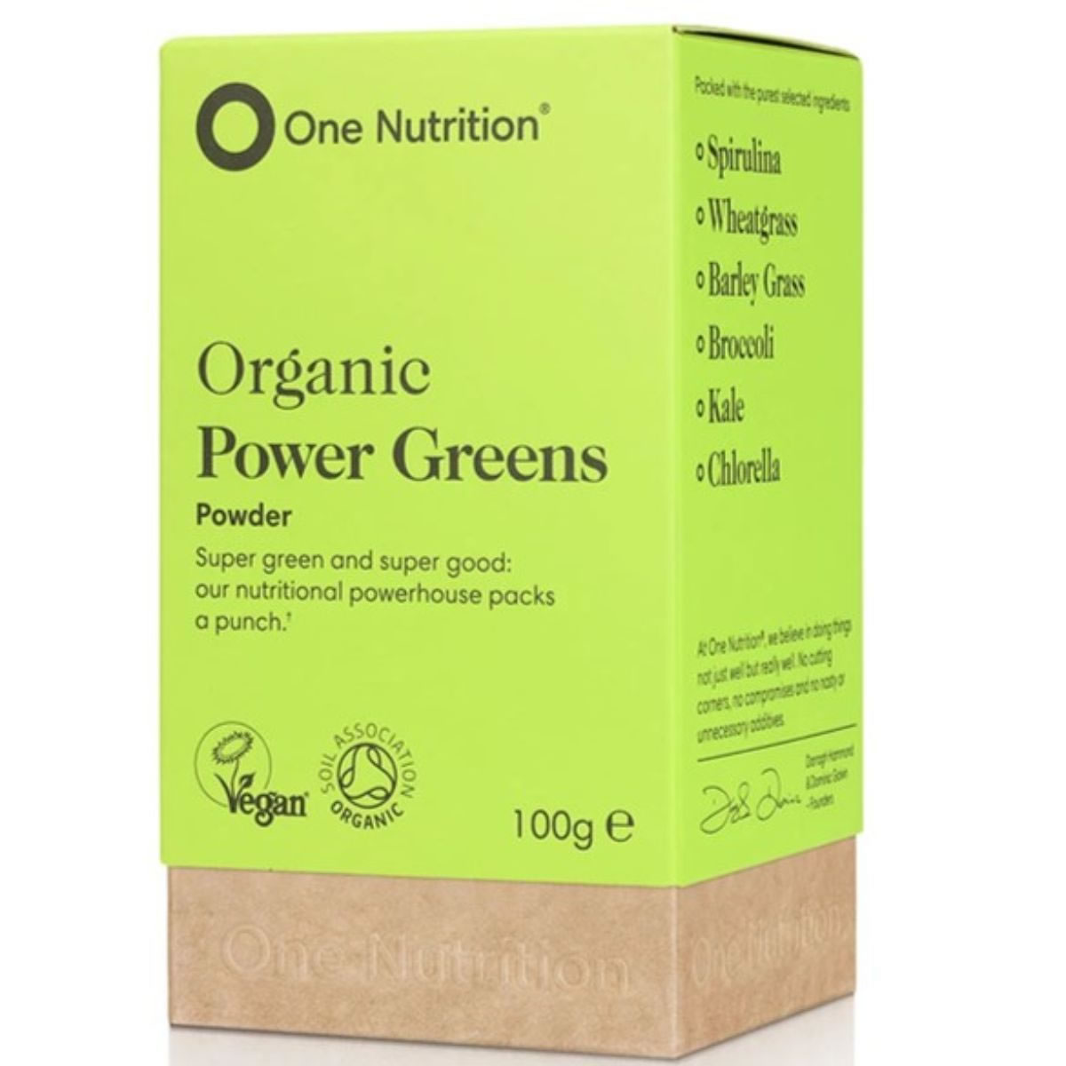 One Nutrition, Power Greens Powder, 100gr