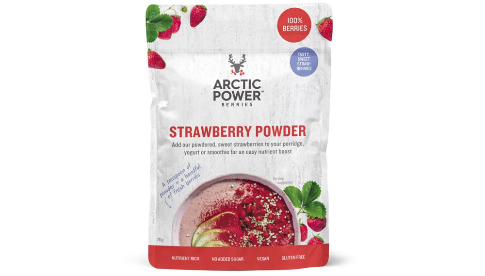 Arctic Power Berries, Strawberry powder, 70g