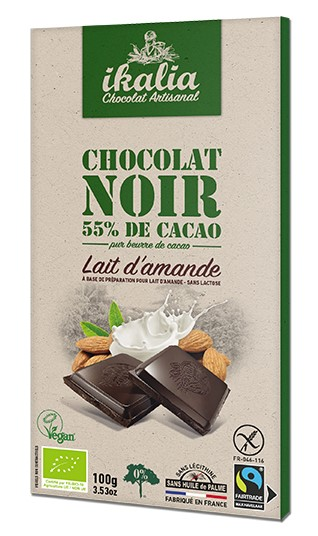 Saveurs, Peruvian Chocolate with Almond Milk, 100g